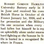 Biography– Robert Gordon Hamilton's biography from the University Schools' 1916 edition of the Annals.
