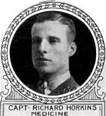 Photo of Richard Horkins– From: The Varsity Magazine Supplement published by The Students Administrative Council, University of Toronto 1918.  