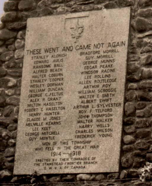 Detail of Memorial plaque