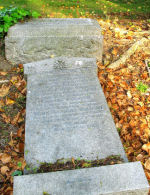 Monument– This is the family grave of Private Thomson in Cathcart Cemetery, Glasgow, Scotland, on which he is commemorated.  Sadly the stone has become unstable and is now lying flat.
