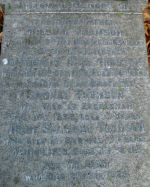 Inscription– This is a close up of the family grave of Private Thomson in Cathcart Cemetery, Glasgow, Scotland, on which he is commemorated.  Sadly the stone has become unstable and is now lying flat.