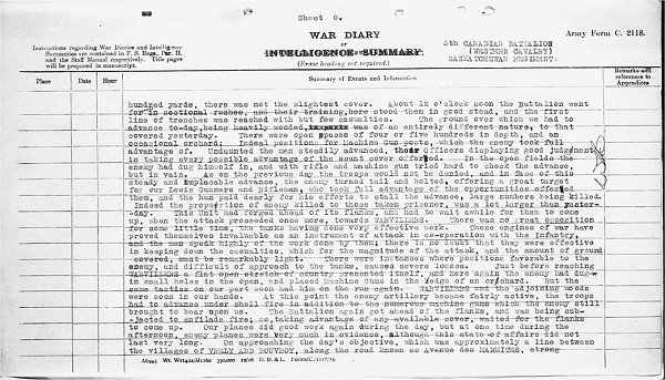War Diary Page 2