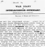 War Diary Page 2– War Diary of the 5th Canadian Infantry  Battalion for August 1918, page 11, describing the start of the battle in which Sgt. J.E. Taylor died.