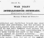 War Diary Page 3– War Diary of the 5th Canadian Infantry  Battalion for August 1918, page 12, describing the battle in which Sgt. J.E. Taylor died.