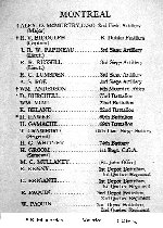 Roll of Honour– Detail:  Roll of Honour, Montreal employees, The Ogilvie Flour Mills Company Ltd.