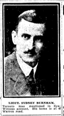 Photo of SIDNEY SMITH BURNHAM– From the Toronto Star. Submitted for the project, Operation: Picture Me