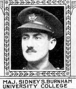 Photo of Sidney Burnham– From: The Varsity Magazine Supplement Fourth Edition 1918