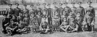 Group Photo– Bugle Band, 198th Battalion CEF, Spring 1916. Stan Egan is standing in the back row, fifth from the left. Stan was killed by a shell burst on the first morning of the Battle of Amiens, while serving with the 2nd Canadian Mounted Rifles.