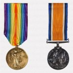 Medals (front)– Victory Medal (Inter-allied War Medal) and British War Medal