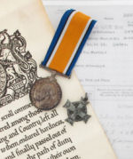 Documents– On all of his paperwork, the army had spelt his name wrong...it is also noted in the paperwork for his Memorial Plaque that the error had been made.  His medal and Memorial Cross have the correct service number, but again spell his name wrong.