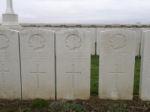 Grave marker– Gravemarker (centre). Photo BGen G. Young 15th Battalion Memorial Project Team   DILEAS GU BRATH