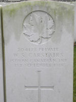 Grave Marker– Grave marker Pte Carstairs.  Photo by BGen (ret'd) G. Young, submitted by Capt V. Goldman 15th Bn Memorial Project.  DILEAS GU BRATH