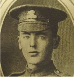 Photo of George Cooper– University of Manitoba Roll of Honour 1914-1918.  Winnipeg, 1923. Roll of the Fallen (pg. 18) - COOPER, George:  Eng. '20; Enlisted 23-3-16; Pte. 184th Battn.; Cpl. 27th Battn.; Service in France; Killed in Action 8-9-18.