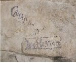 """Graffiti– Graffiti found in """"maison blanche"""" cave or 'souterrain' neuville st vaast opened whilst filming a documentary on Vimy tunnels"""