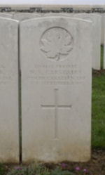 Grave marker– Gravemarker (second from left). Photo BGen G. Young 15th Battalion Memorial Project Team   DILEAS GU BRATH.