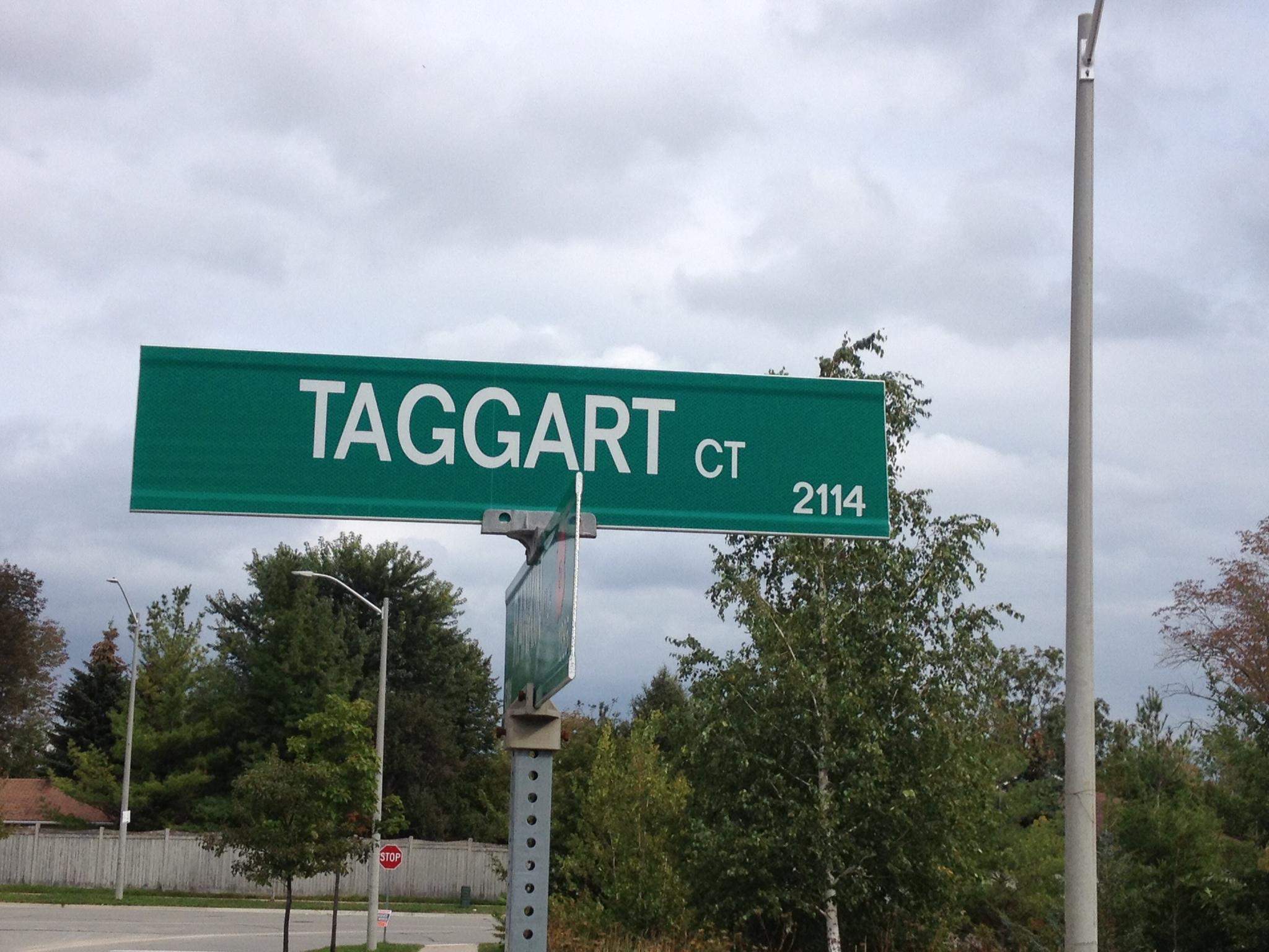 Memorial Street– Innisfil street named in honour of Private Albert Edward Taggart.
