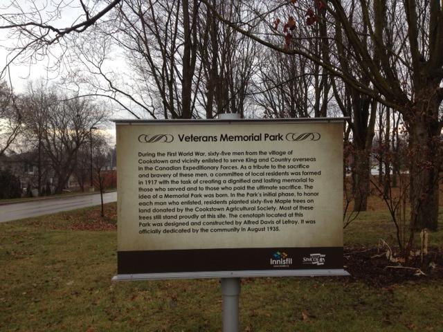 Memorial Park– Cookstown Memorial Park