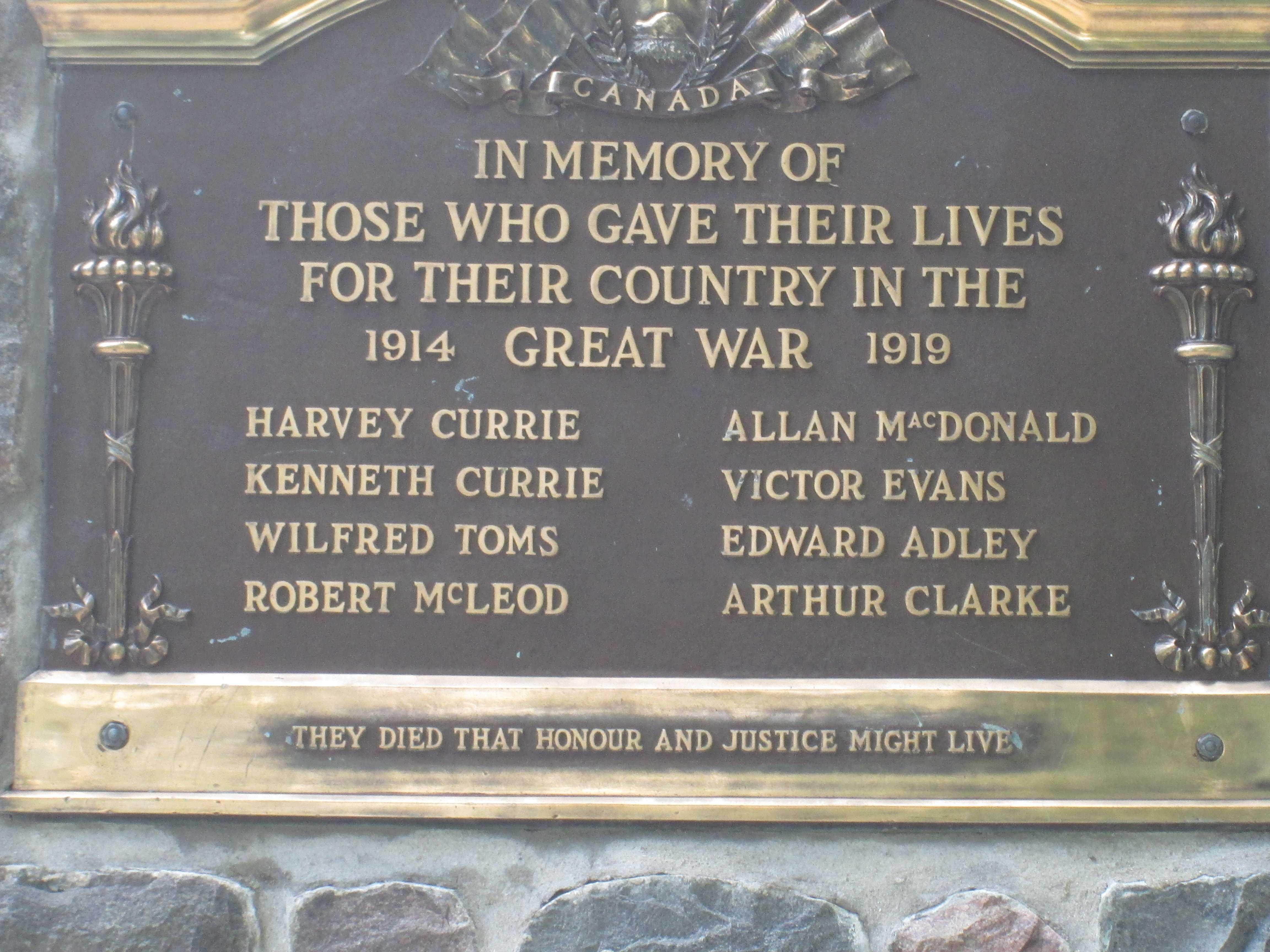 Inscription – Bayfield, Ontario