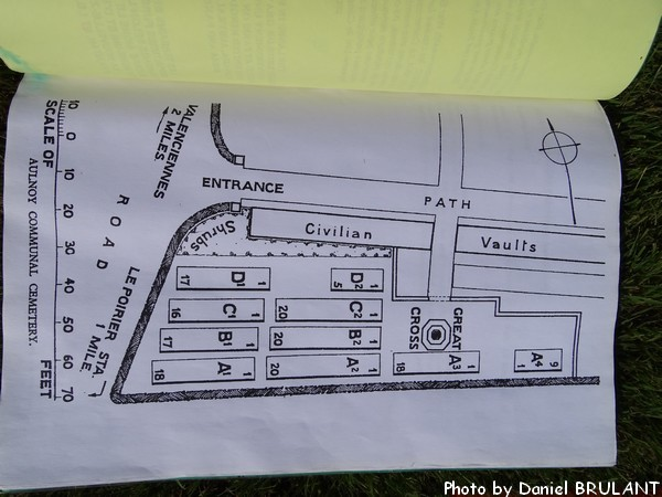 Cemetery Plan– Cemetery and plan of Aulnoy Communal Cemetery