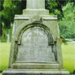 Memorial– Hew McKenzie Bradshaw is commemorated on this cenotaph in Fort Langley, British Columbia