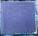 Inscription– Alexander Elliott's name on War Memorial, Bushmills, Co. Antrim, Northern Ireland. Photograph taken 7th Feb 2008