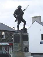 Memorial– War Memorial in Bushmills, Co. Antrim, Northern Ireland. Alexander Elliott's name is on the larger panel to the left. Photograph taken 7th Feb 2008.