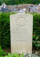 Grave Marker– Padden TW - Evereux Communal Cemetery, France.  Photo Taken 3rd June 1916