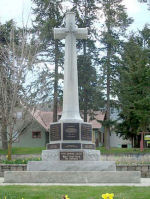 War Memorial– War Memorial, Salmon Arm & District, British Columbia. Inscribed: