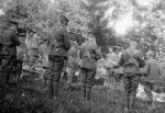 Funeral– Funeral in France of Private Gaudett, 52nd Company, Canadian Forestry Corps. From the DND photo collection at Library and Archives Canada.