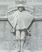 Preston War Memorial– Preston Ontario Cenotaph. Dedicated November 8, 1926. The names of Preston soldiers killed in the Second World War were added in 1949.  Inscribed:  IN HONOURED MEMORY OF THE MEN OF PRESTON WHO DIED IN THE GREAT WAR AND IN GRATEFUL TRIBUTE TO THOSE WHO SHARED ITS DANGERS.