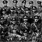 Group Photo– Group Photograph of the Officers of the 116th (Ontario County) Battalion.  Published prominently in the Toronto Star on January 5th, 1918.