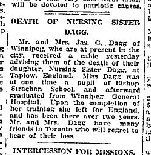 Coupre de presse – Source: The Globe (Toronto) 2 decembre 1918, page 10.