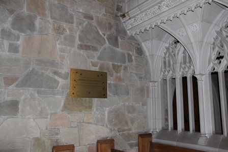 Memorial Plaque– A brass plaque commemorating Nursing Sister Ainslie St. Clair Dagg now hangs on the south wall of the Bishop Strachan School's chapel. A service for the installation of the plaque was held on November 19, 2015. Ainslie Dagg was an alumna of BSS, having attended the school in 1910-1911. The plaque was designed by two BSS senior art students who graduated in 2015.