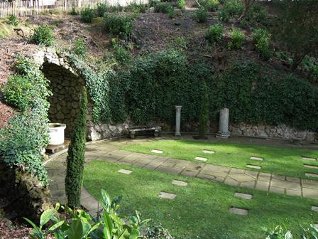Cemetery– A view looking across the War Memorial Garden at Cliveden, England where Nursing Sister Ainslie St. Clair Dagg is buried. The photograph was taken in 2014 by Susan Dutton, Archivist at the Bishop Strachan School. Ainslie Dagg attended the school in 1910-1911.