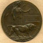 Death Plaque– WW1 - CEF Death Plaque,PPCLI, RCR and RAF, #475930 MacPherson C.S