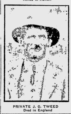 Photo of JOHN GRENVILLE WILBERFORCE TWEED– From the Calgary Herald. Submitted for the project, Operation: Picture Me