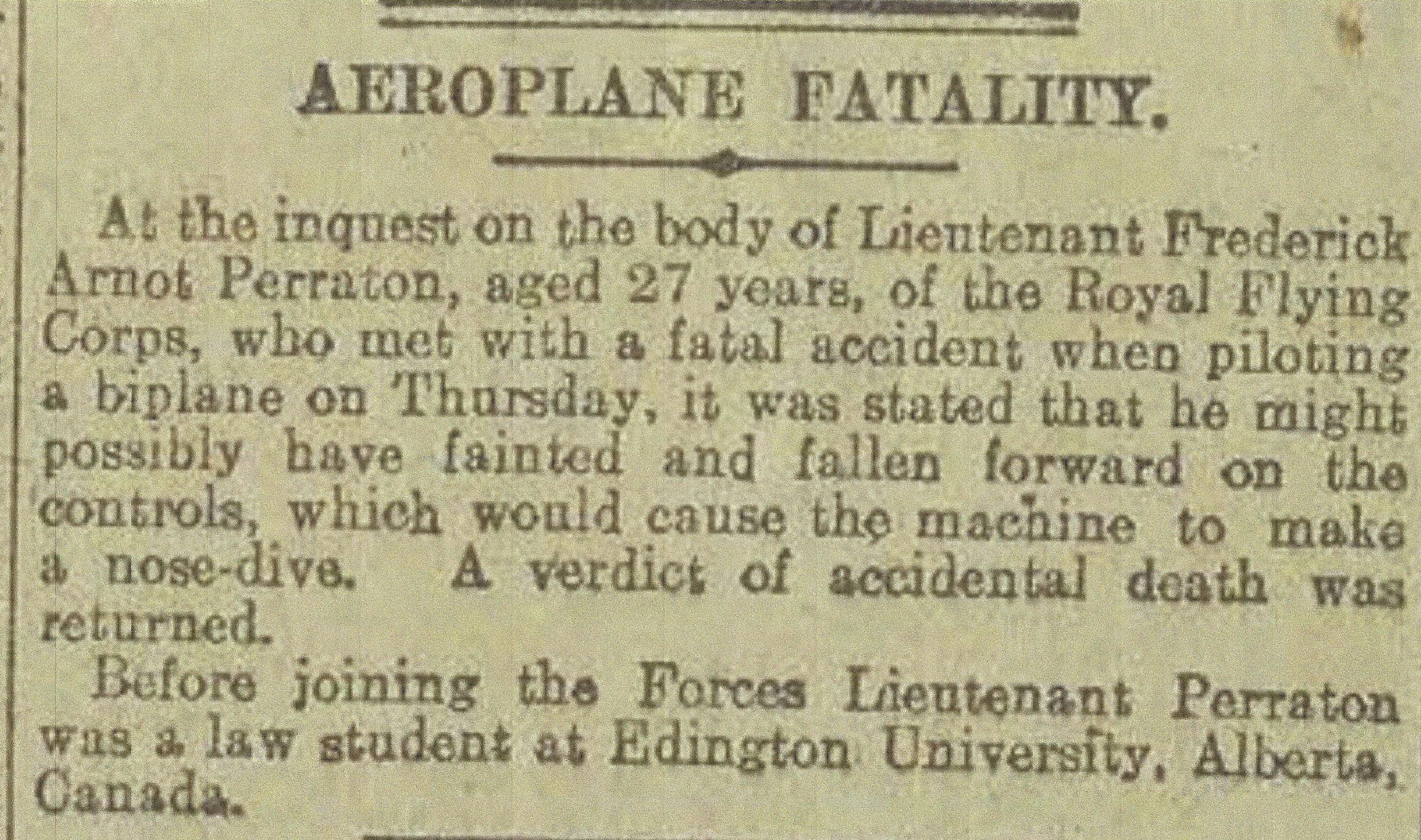 Newspaper Clipping– Newspaper clipping from Daily Telegraph of March 5, 1917. Image taken from web address of http://www.telegraph.co.uk/news/ww1-archive/12214358/Daily-Telegraph-March-5-1917.html