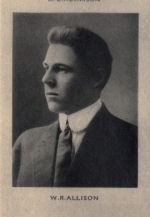 Photo of William Roderick Allison– Photo from Memorial from the Great War 1914-1918: a record of service  published by the Bank of Montreal 1921; now found on http://www.archive.org/details/memorialofgreatw00bankuoft