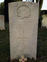 Grave marker– W R Allison, Canadian Garrison Artillery, 24 Feb 1919