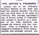 Newspaper Clipping– Section 1 of a clipping from the Renfrew Mercury for 8 March 1918.