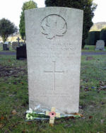 Grave marker– A W Fishenden, 38th Canadian Infantry, 28th Feb 1918