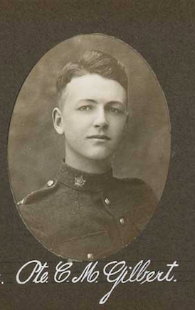 Photo of CHARLES MORRIS GILBERT– In memory of the employees of the T. Eaton Company that went to war and did not come home.  Submitted for the project, Operation: Picture Me