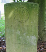 Grave Marker– Grave of Spr. Fred HILLER, Buxton Cemetery