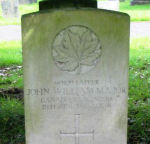 Grave Marker– Grave of Spr. JOHN WILLIAM MAJOR, Buxton Cemetery