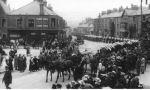 Funeral– The funeral of Nursing Sister Ada Janet Ross, July 15th 1918 (Corner of West Road / London Road, Buxton)