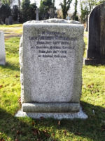 Grave marker– Lt. R W Strong's grave in Buxton Cemetery