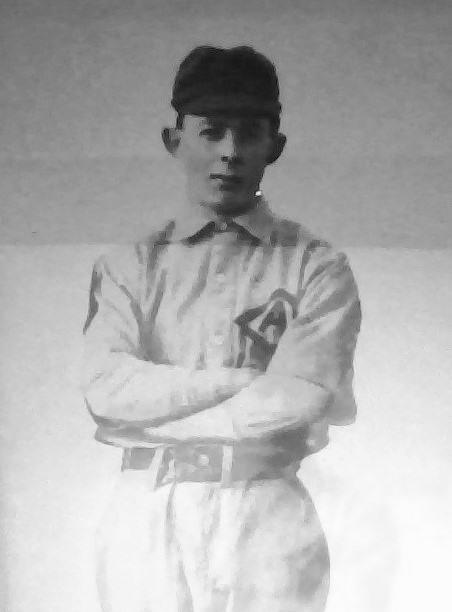 Photo of Newman Campbell– Newman Campbell in baseball uniform, Owen Sound, Ontario.