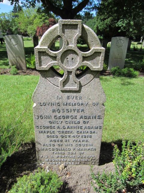 Grave marker– Grave marker at Bramshott (St. Mary) Churchyard; image taken 10 June 2014.