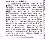 Newspaper Clipping– Clipping from page 1 of the Renfrew Mercury for 6 September 1918.