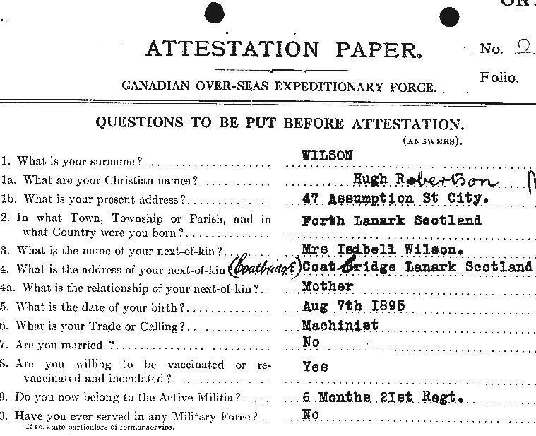 Attestation paper– Contributed by E.Edwards www.18thbattalioncef.wordpress.com